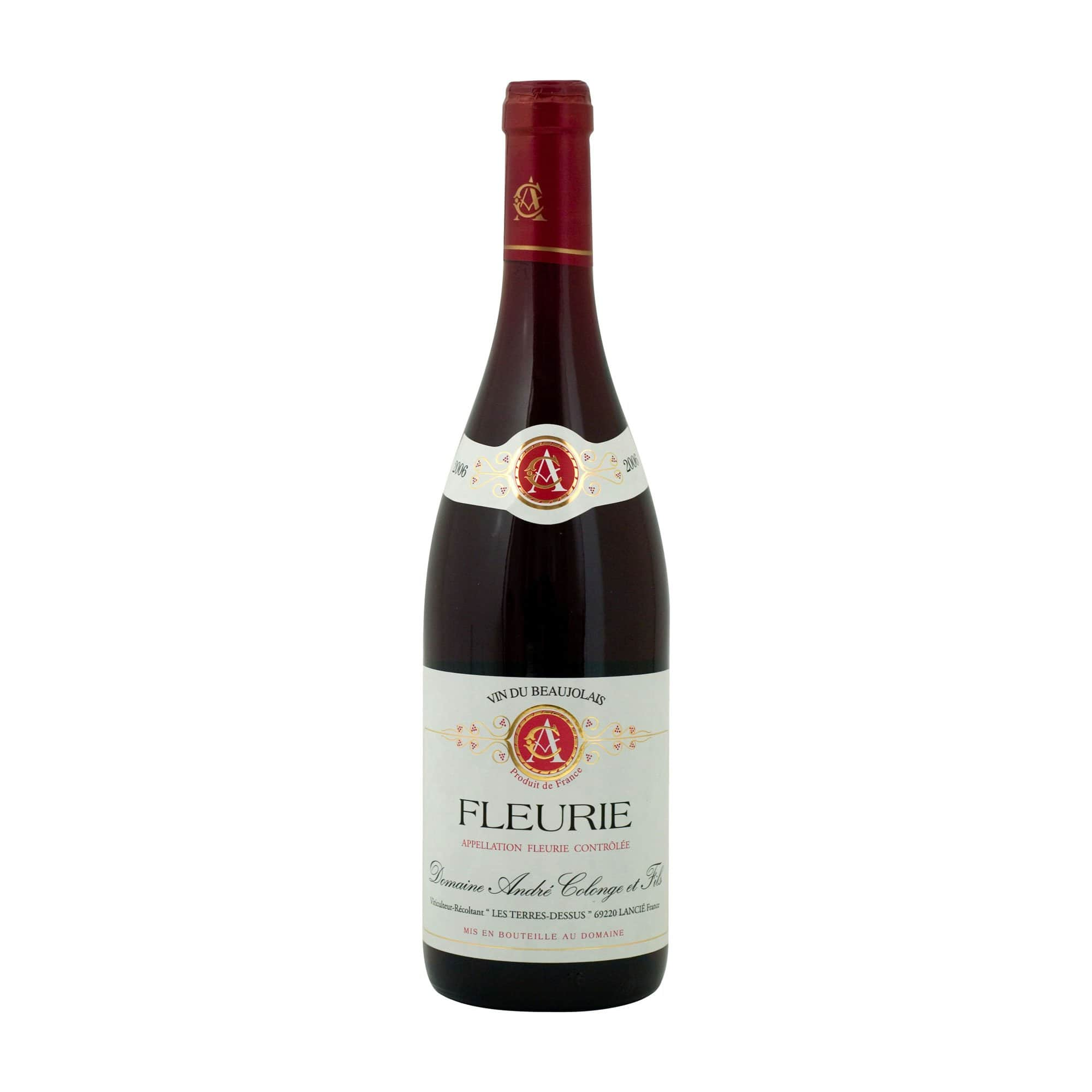 Red Wine Fleurie André Colonge et Fils 2018