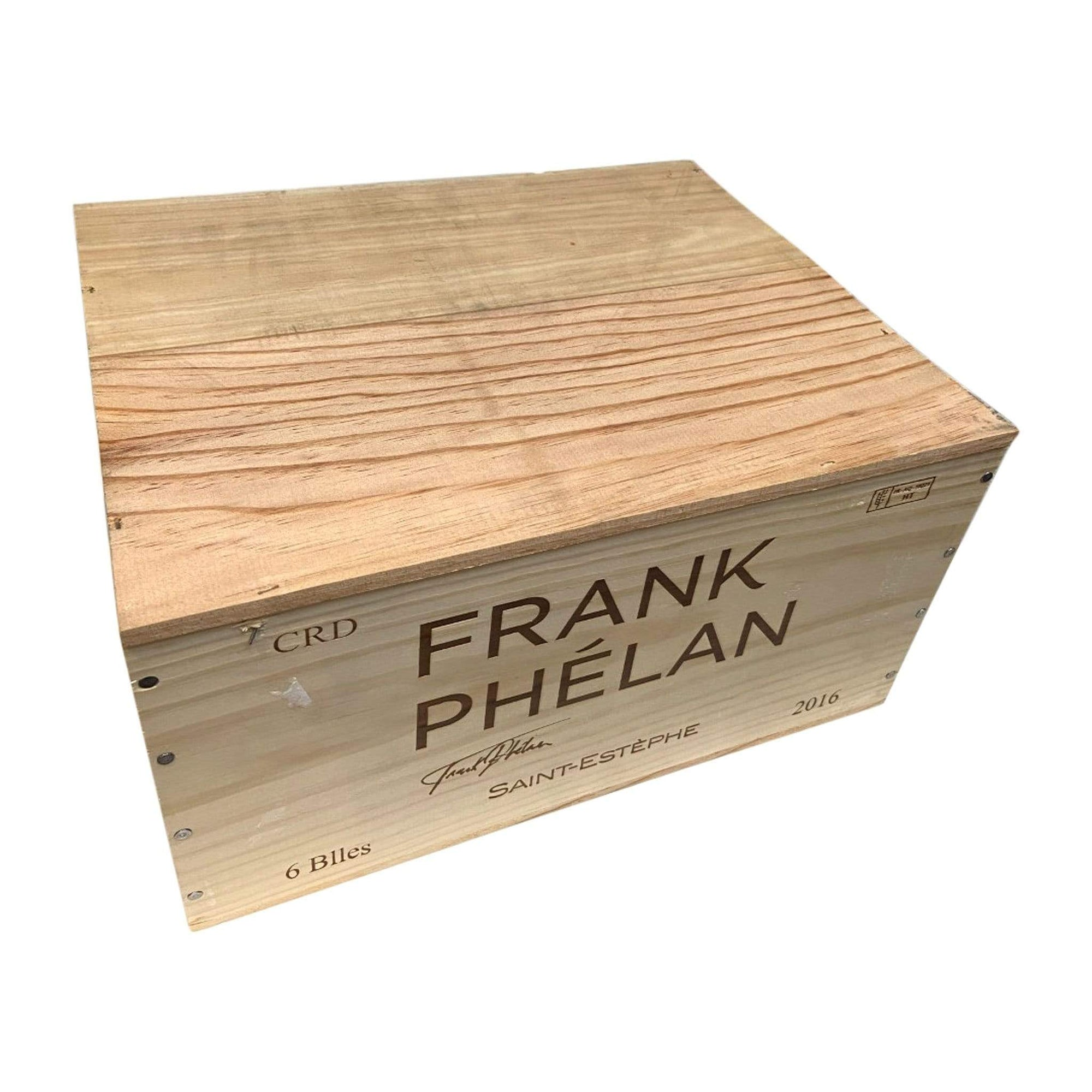 Red Wine Frank Phélan St Estephe 2016 (Original Wooden 6 Bottle Case)