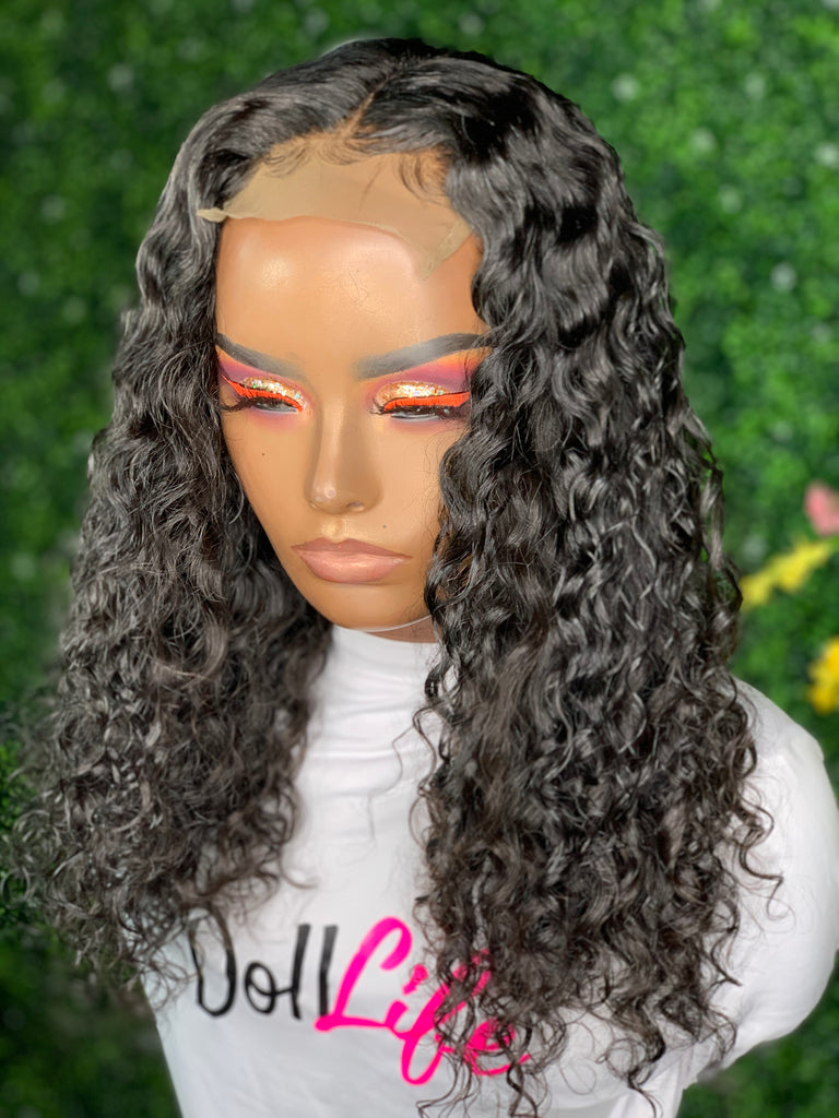 16-inch closure made with Peruvian  Deep wave