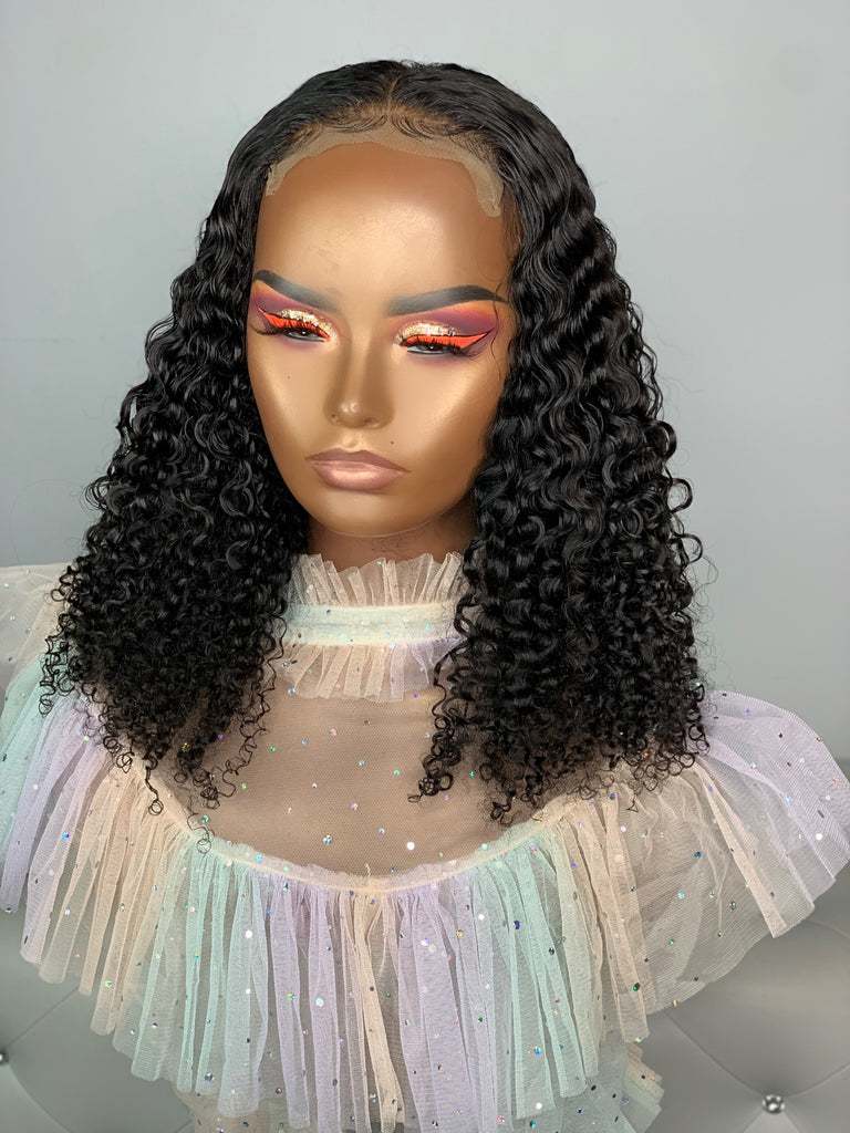 Uncustomized 16-inch closure made with Mongolian afro kinky curly