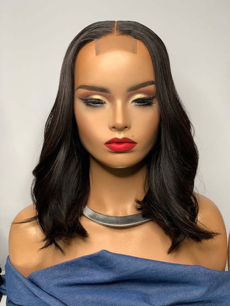 14 inch readymade (360 frontal) Brazilian water wave unit customized and colored