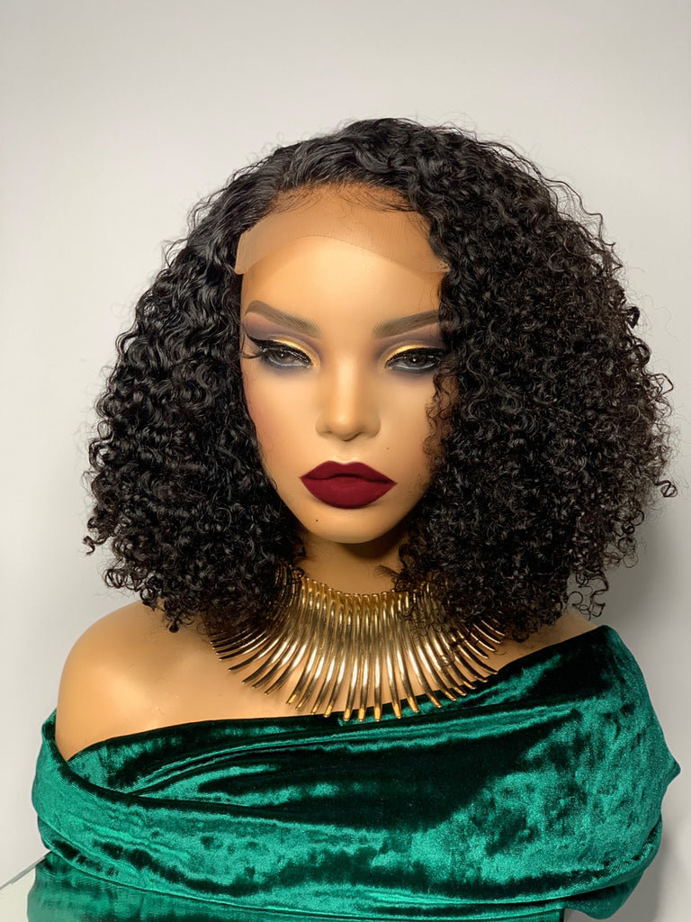 Uncustomized 10-inch afro kinky curly