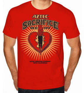 Men's Aztec Sacrifice Design T-Shirt