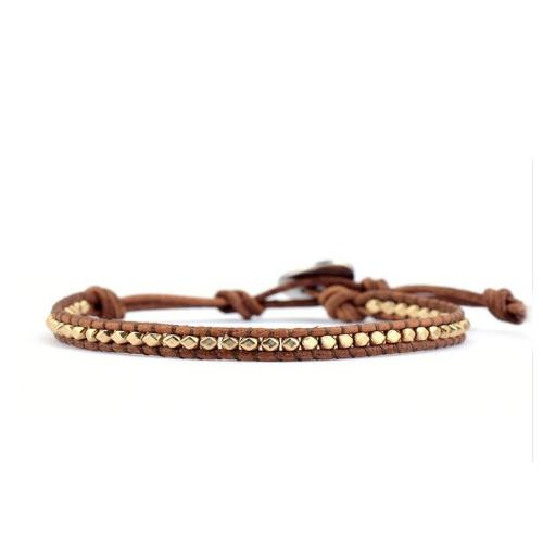 Leather Bracelet Gold