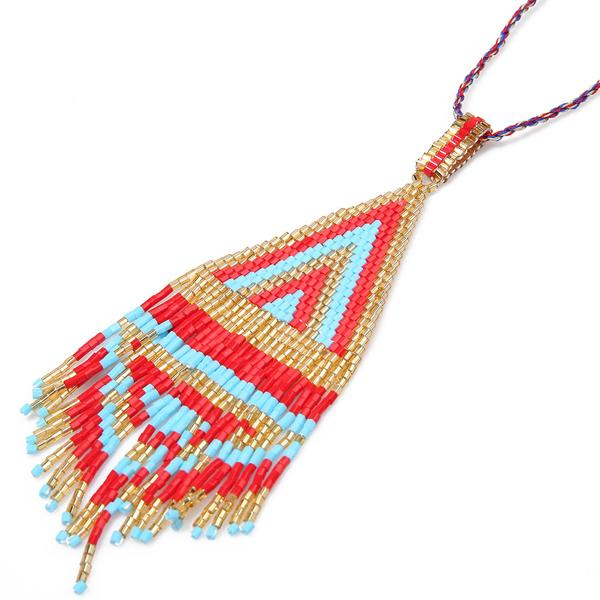 Maya Necklace Red/blue/gold