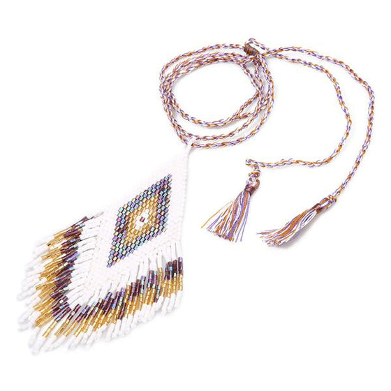 Maya Necklace White/Gold