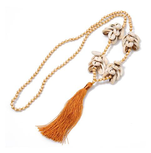 Tassel & Shell Necklace