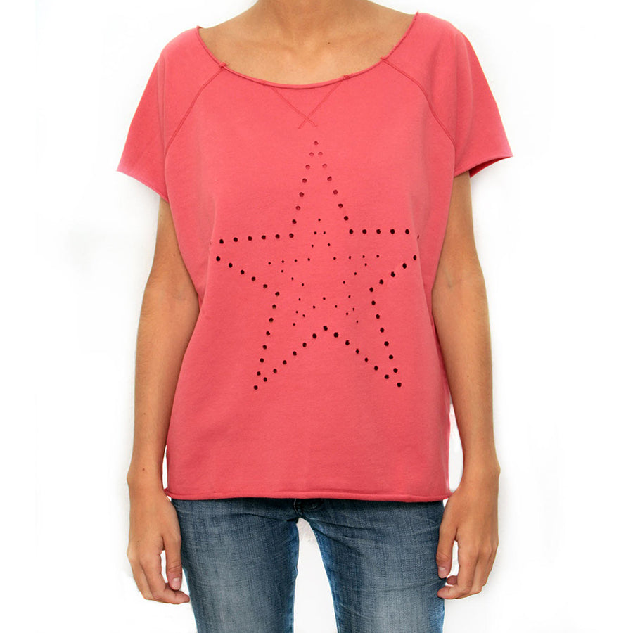 Star Top by The Hip Tee Coral