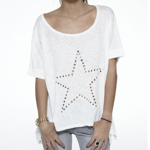 Star Top by The Hip Tee White