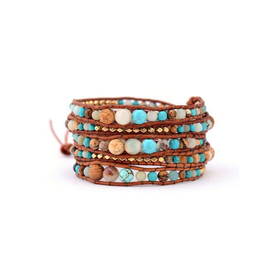 Amazonite Beaded Wrap Bracelet