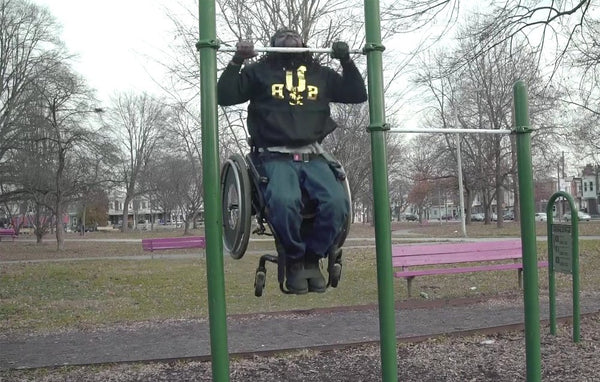Upper Body Boy: Man in Wheelchair Does 15 Legit Pullups