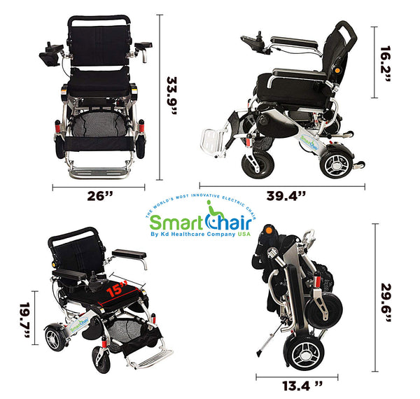 Kd Smart Chair Heavy Duty Power Wheelchair Foldable And
