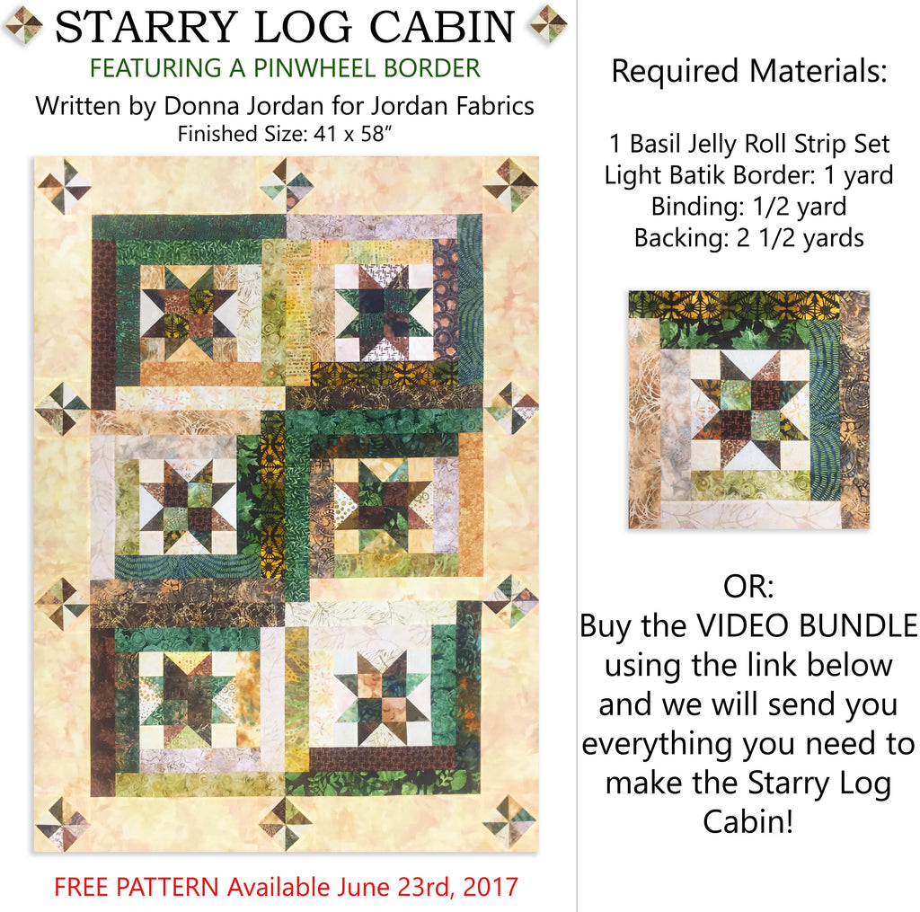 Starry Log Cabin Pattern