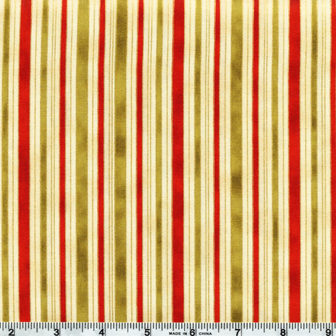 The Textile Pantry Metallic Melba 0011 8 Cream Hampton Stripe By The Yard