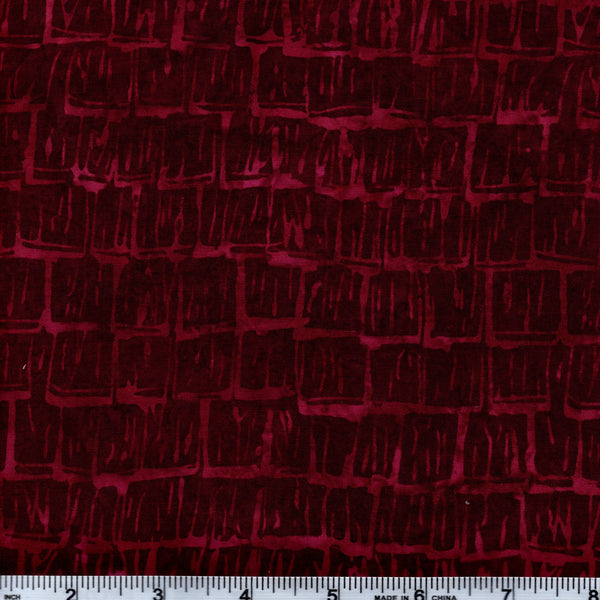 Hoffman Bali Batik 026 99 Cranberry Bricks By The Yard
