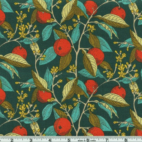 Liberty Fabrics Riley Blake Summer House 04775668Y Red Conservatory Fruits by the yard