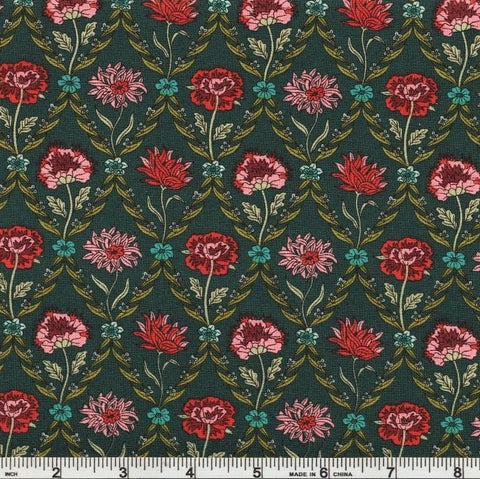 Liberty Fabrics Riley Blake Summer House 04775670X Charcoal Kew Trellis by the yard