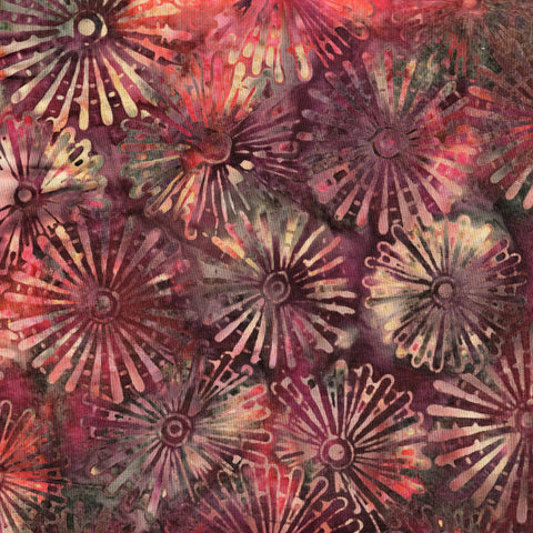 Hoffman Bali Batiks 0544 619 Bohemia Windmill Flowers By The Yard