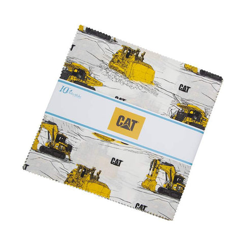 "Riley Blake CAT Pre-Cut 42 Piece - 10"" Stacker Layer Cake Squares - CAT Equipment"