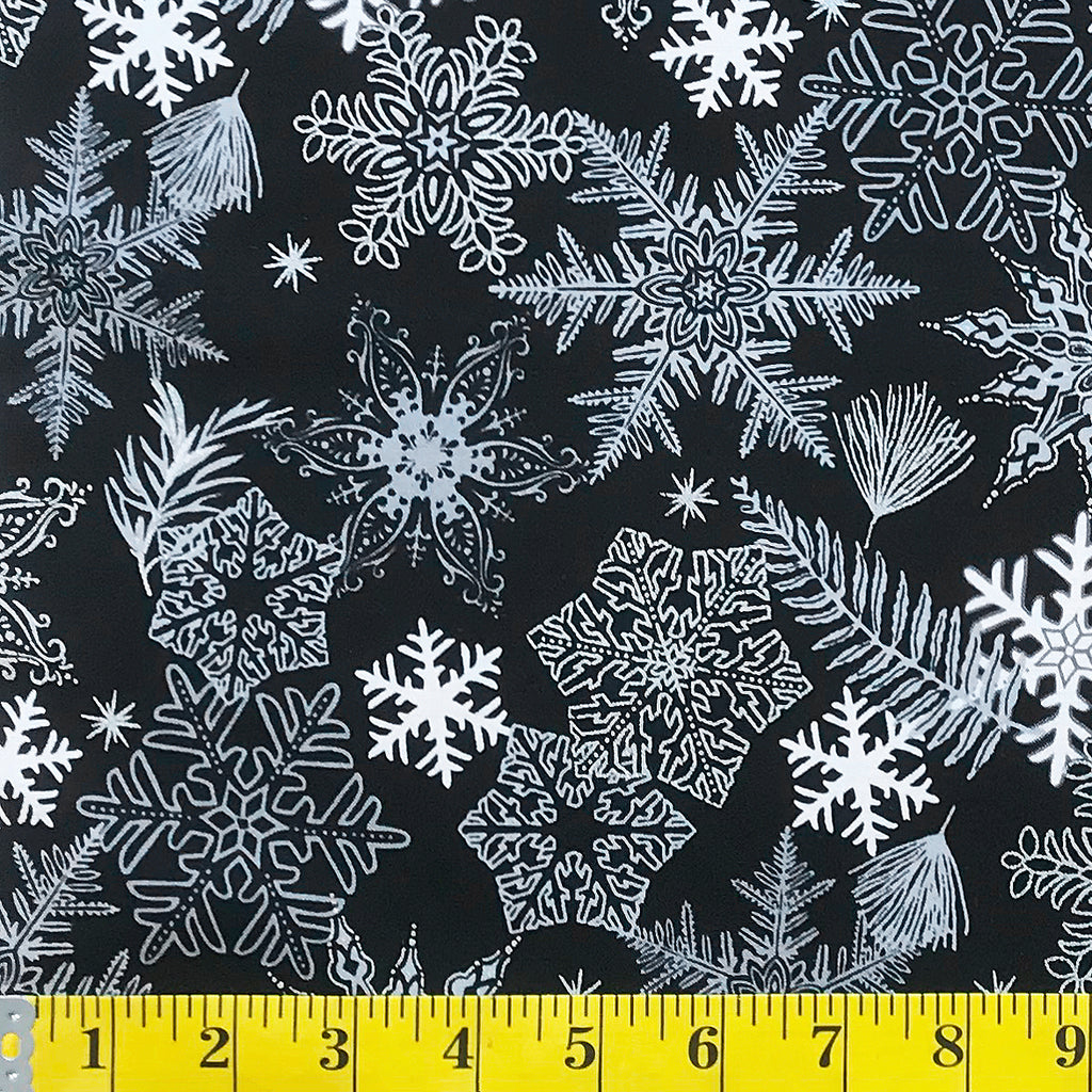 price for 1 yard white  snowflakes