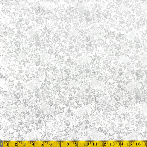 Jordan Fabrics Metallic Christmas Blossom 10006 5 Tinsel Elegant Vines By The Yard