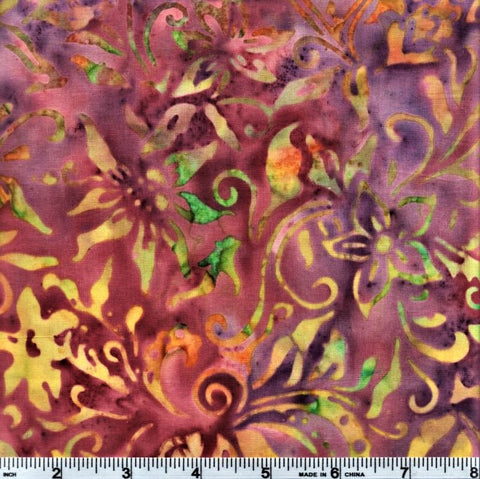 Anthology Batik 10027 Multi-Color Flowers By The Yard