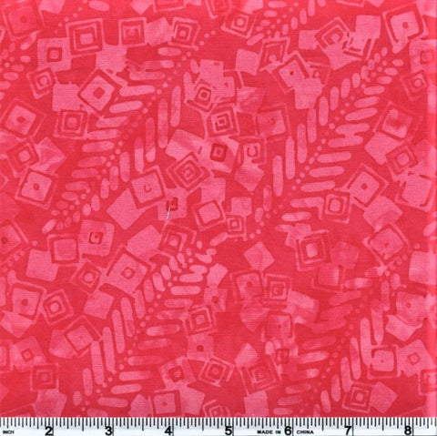 Anthology Batik 10266 Pink Abstract Squares By The Yard