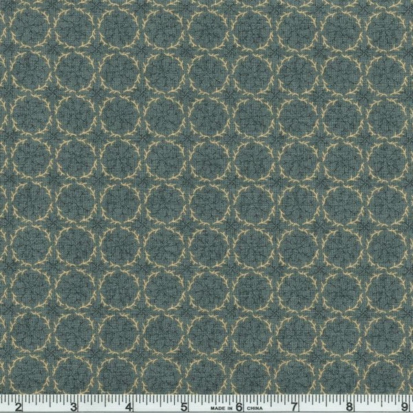 Blank Quilting Barn Dance 1074 79 Dusty Teal Twig Wreaths By The Yard