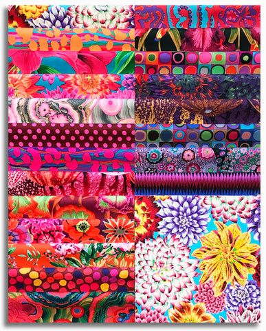 "Free Spirit Kaffe Fassett Pre-Cut 42 Piece 10"" Squares Layer Cake - August 2020 Hot"