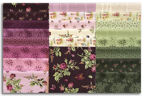 Drunkard's Path VIDEO BUNDLE Quilt Kit - Includes Pre-Cut Riley Blake Anne of Green Gables Layer Cake & Template Set
