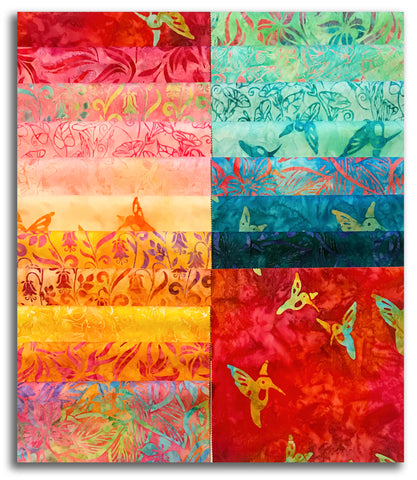 "Kaufman Artisan Batiks Pre-Cut 42 Piece 10"" Layer Cake Squares 946 42 - Hummingbird Lane"