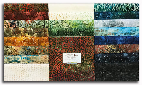 "Kaufman Artisan Batik Pre-Cut 42 Piece 10"" Squares Layer Cake 773 42 - By The Brook"