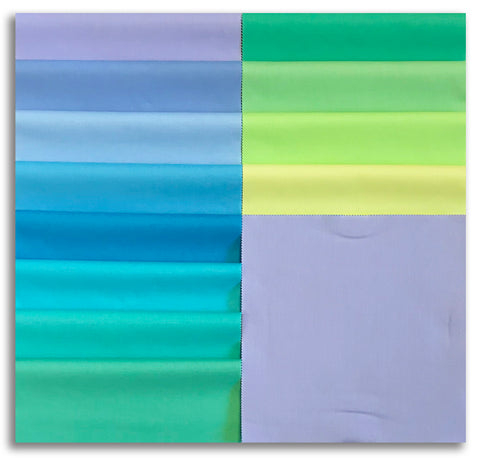 "Kaufman Kona Pre-Cuts 42 Piece 10"" Squares Layer Cake 650 42 - Mermaid Shores"