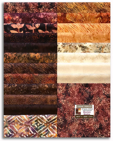 "Hoffman Batiks Pre-Cut 40 - 10"" Layer Cake Squares - Mountain Meadow"