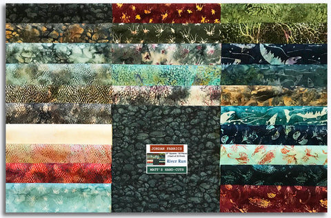 "Hoffman Batiks Pre-Cut 50 - 10"" Layer Cake Squares - River Run"