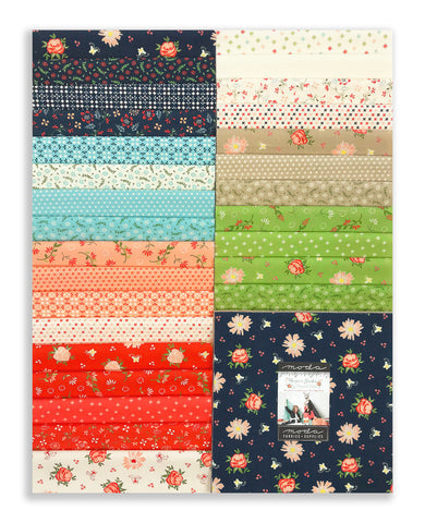 "Moda Pre-Cut 42 Piece 10"" Square Layer Cake - Harper's Garden"