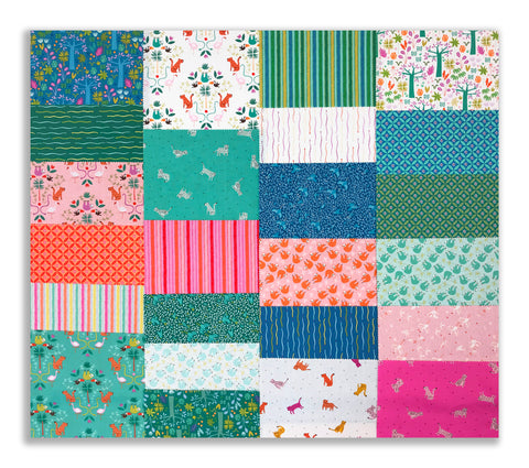 "Riley Blake Pre-Cut 42 Piece - 10"" Stacker Layer Cake Squares - Under The Canopy"