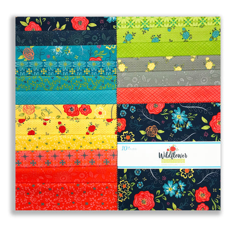 "Riley Blake Pre-Cut 42 Piece - 10"" Stacker Layer Cake Squares - Wildflower Boutique"