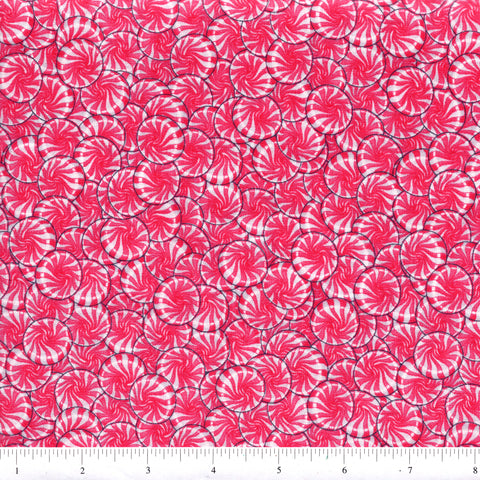 RJR Fabrics Sweet Scoop 1225 1 Pink Peppermints By The Yard