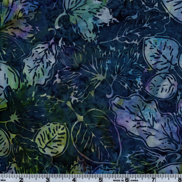 Hoffman Bali Batik H 1234 567 Blue Leaves By The Yard
