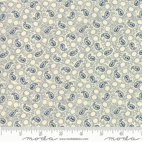 Moda Indigo Gatherings 1290 11 Moon Petite Paisley By The Yard