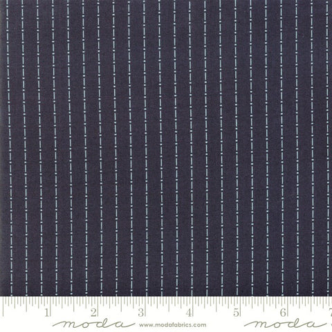 Moda Indigo Gatherings 1292 22 American Dot Dash Stripe By The Yard