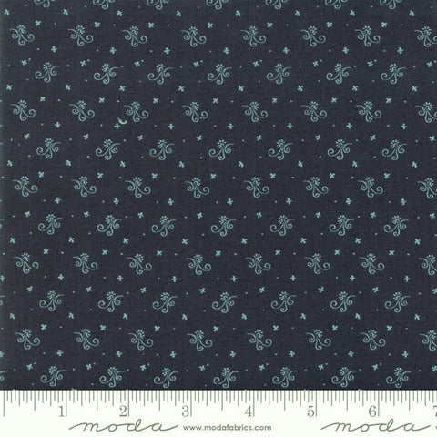 Moda Indigo Gatherings 1294 22 Tonal American Flower Scroll By The Yard