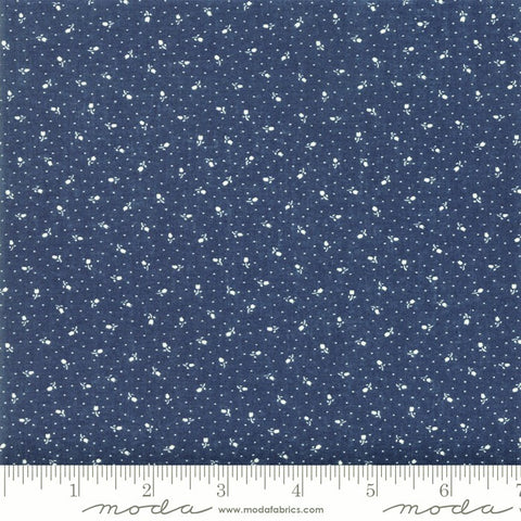 Moda Indigo Gatherings 1297 15 Nautical Rose Bed By The Yard