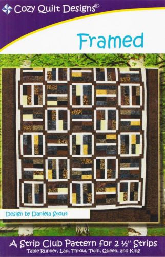 Cozy Quilt Designs FRAMED Pattern for 2 1/2 inch Strips