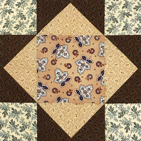 Kaufman Pre-Cut 12 Block King's Crown Quilt Kit - Charlotte