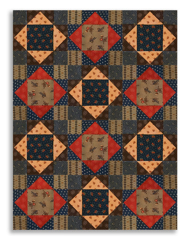 Moda Pre-Cut 12 Block King's Crown Quilt Kit - Hickory Road