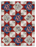 Moda Pre-Cut 12 Block King's Crown Quilt Kit - Land That I Love