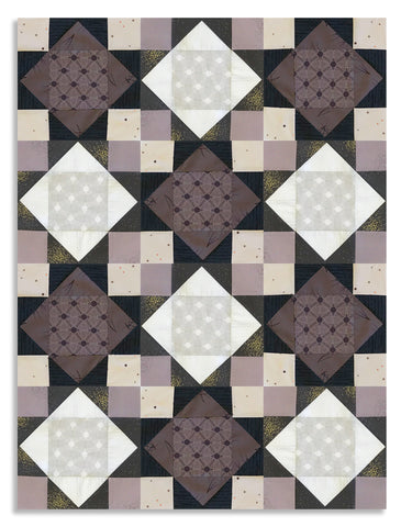 Andover Pre-Cut 12 Block King's Crown Quilt Kit - Tattooed North