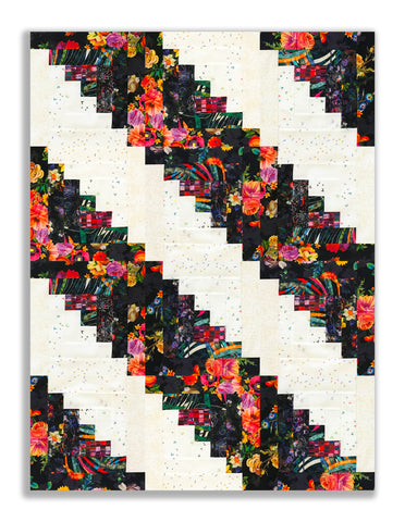 RJR Fabrics PRE-CUT 12 Block Log Cabin Quilt Kit - Arcadia